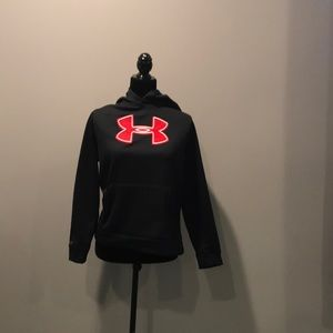 Tops - Black and red under amour sweatshirt
